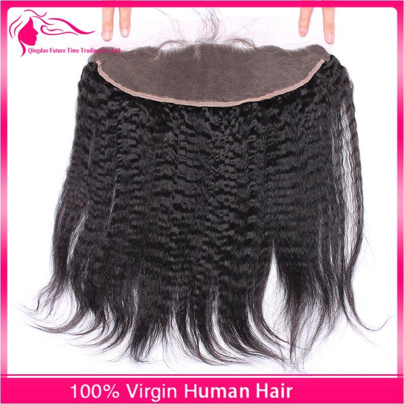 جديد وصول غريب مستقيم الرباط أمامي 13x4 البرازيلي الشعر الإيطالي الخشنة ياكي الأذن إلى الأذن frontals الدانتيل الكامل للمرأة