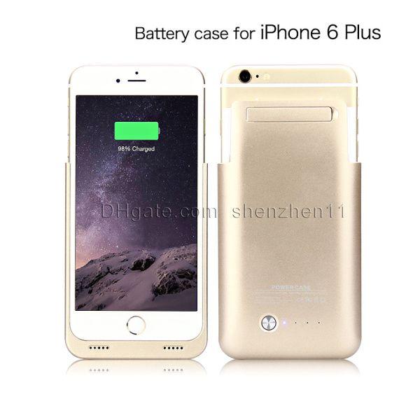 Cas de puissance pour iPhone 6 plus Power Bank 4000 mAh Rechargerbale Flip Power Bank Backup iphone6 plus chargeur de batterie externe Case BAC020
