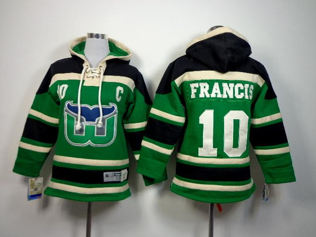 ... Hoodies Sweatshirts 2017 Kids 2016 New Old Time Hockey Jerseys Hartford  Whalers 10 Ron Francis Green Youth Sewing ... 90ab36c46