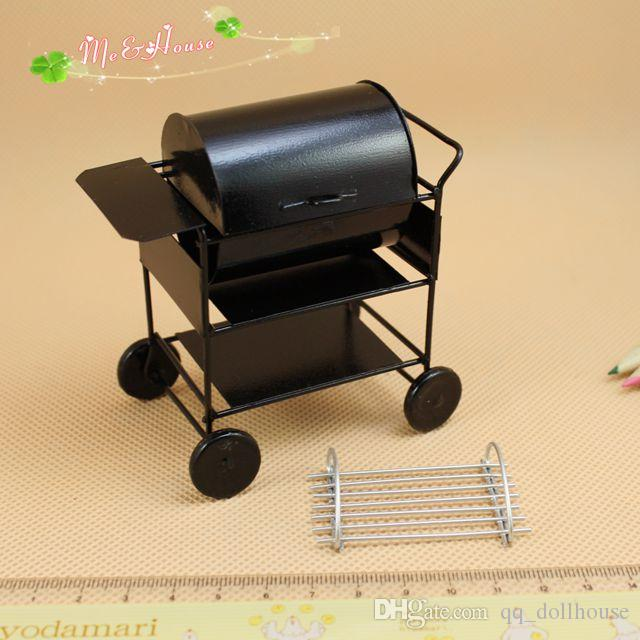 1:12 Dollhouse Miniature Black BBQ Grill Dollhouse Garden Outdoor Accessory EA