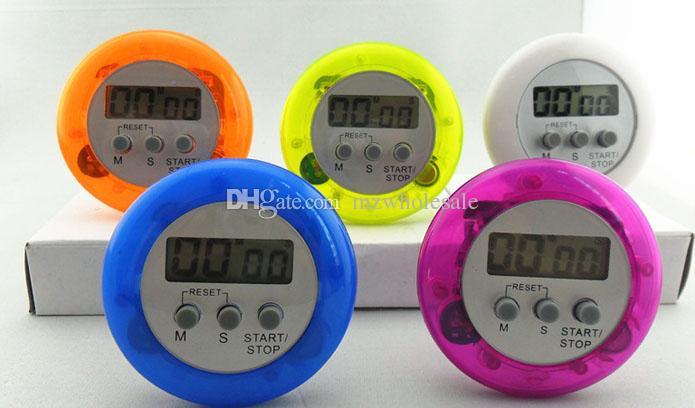 Новый Оптовая Бесплатная доставка по DHL Fedex доставка красочные цифровой ЖК-таймер секундомер кухня приготовления обратный отсчет часы