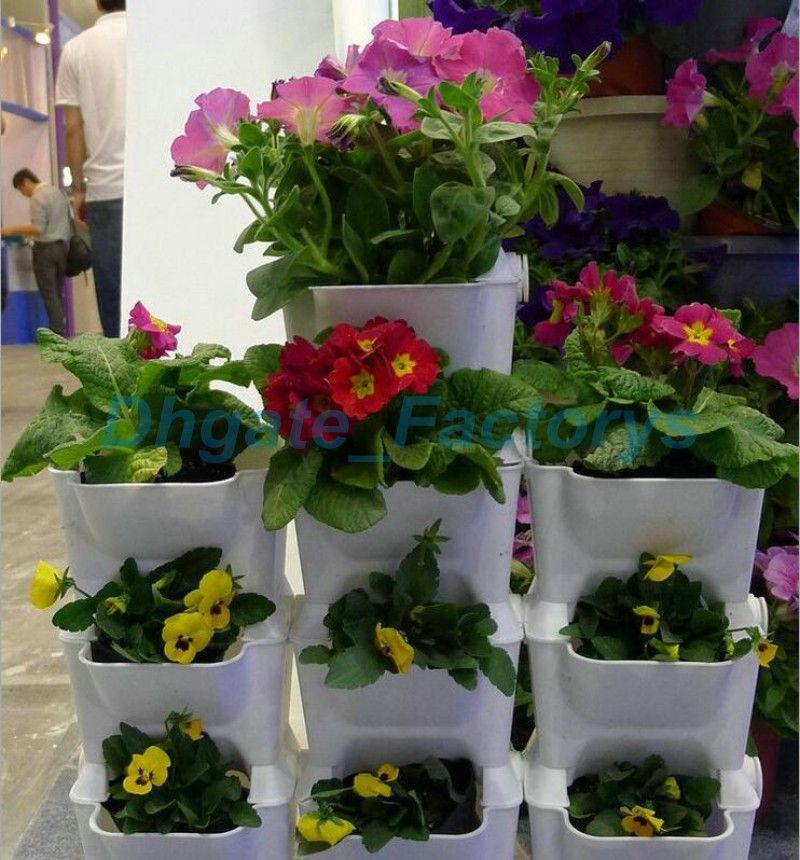 Flower Pots Planter for Balcony Flower Combination Flowerpot Three-dimensional Wall Plants Pot Vertical Garden JF-421