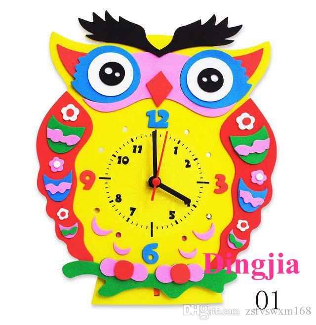 creative diy alarm clock cartoon image of child children clock handmade paper eva material of about cm buy a wall clock buy clock from zsfvswxm
