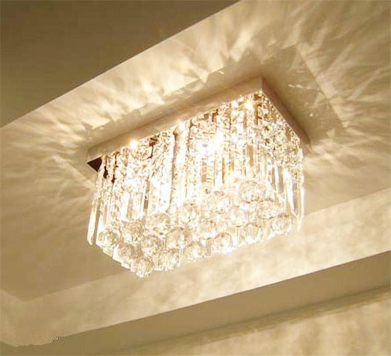 awesome vente en gros lumire de mode verre k cristal lustres rectangle plafond lumire salon. Black Bedroom Furniture Sets. Home Design Ideas