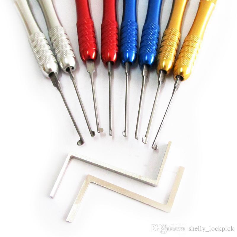 Высокое качество Хук слесарные инструменты алюминиевого сплава Kaba 8шт отмычку комплект дверной замок быстрый открывалка