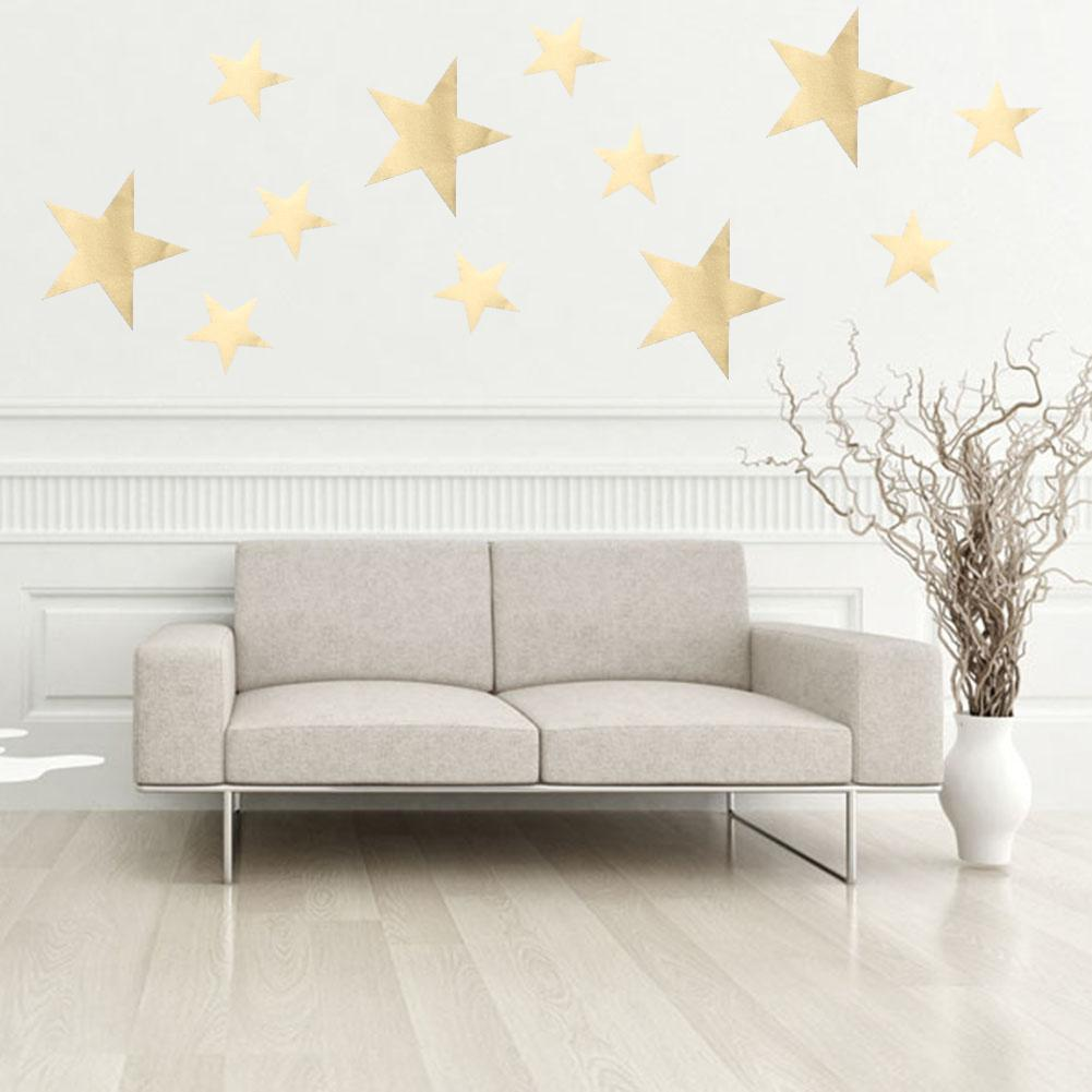 DIY Little Gold Star Stickers Home Decor Living Room Decorative Wall Stickers Vinyl Stickers For Kids Nursery Rooms