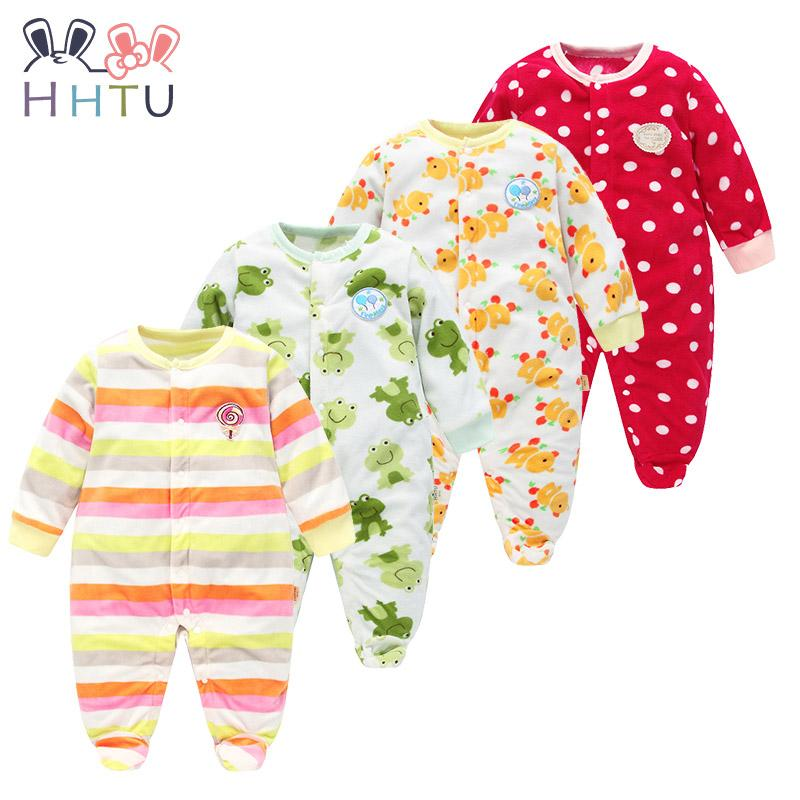 b7db9e3c5 2019 Hhtu Baby Rompers Clothes Long Sleeved Coveralls For Newborns ...