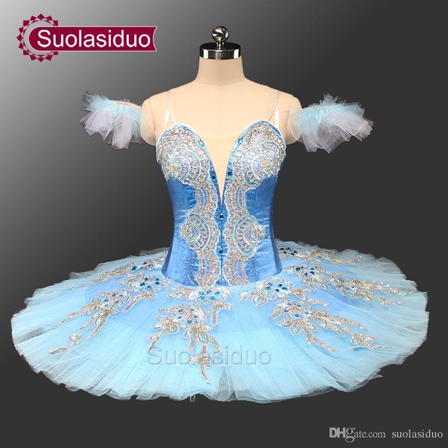 23ce6e49b 2019 Adult Classical Ballet Tutu Blue Pancake Platter Tutu Costume  Performance Competition Professional Tutus Ballerina Tutu SD0071 From  Suolasiduo, ...