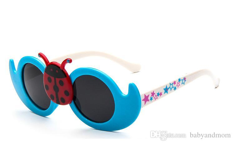 2017 New Hot Cartoon Lovely Kids Sunglasses Sun-Shading Mirror Baby Multi-Colors Beetle beach Sunglasses for Childrens