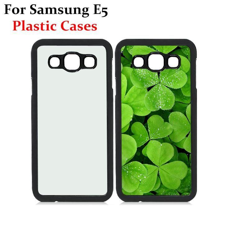 63ff5b17ad7 Fundas Celulares Samsung Galaxy E5 Casos De Bricolaje 2D Sublimación Calor  Prensa Carcasa De Plástico Con Placas De Aluminio En Blanco De Metal DHL  Envío ...