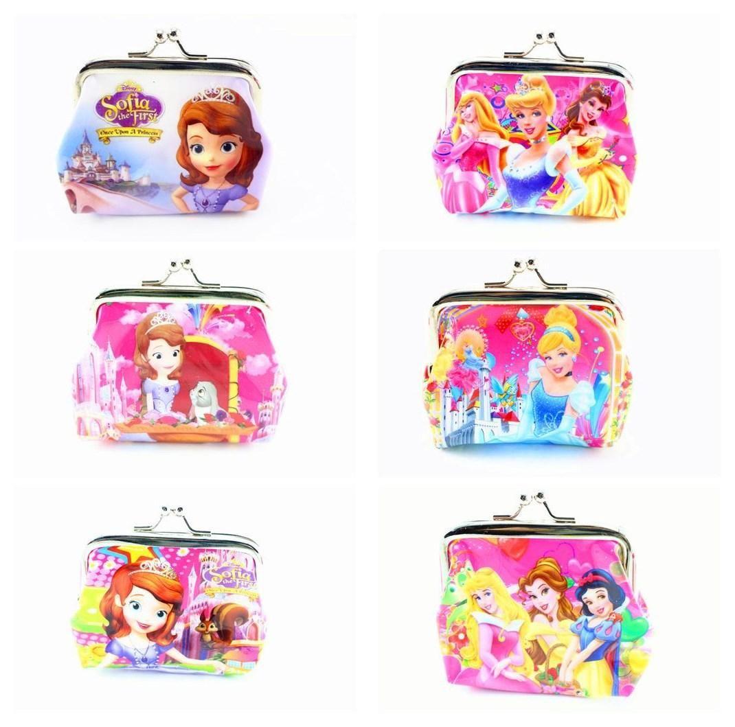 Snow princess purse sofia snow white printed purse popular kids zero wallet best christmas gift - Prinses pure ...