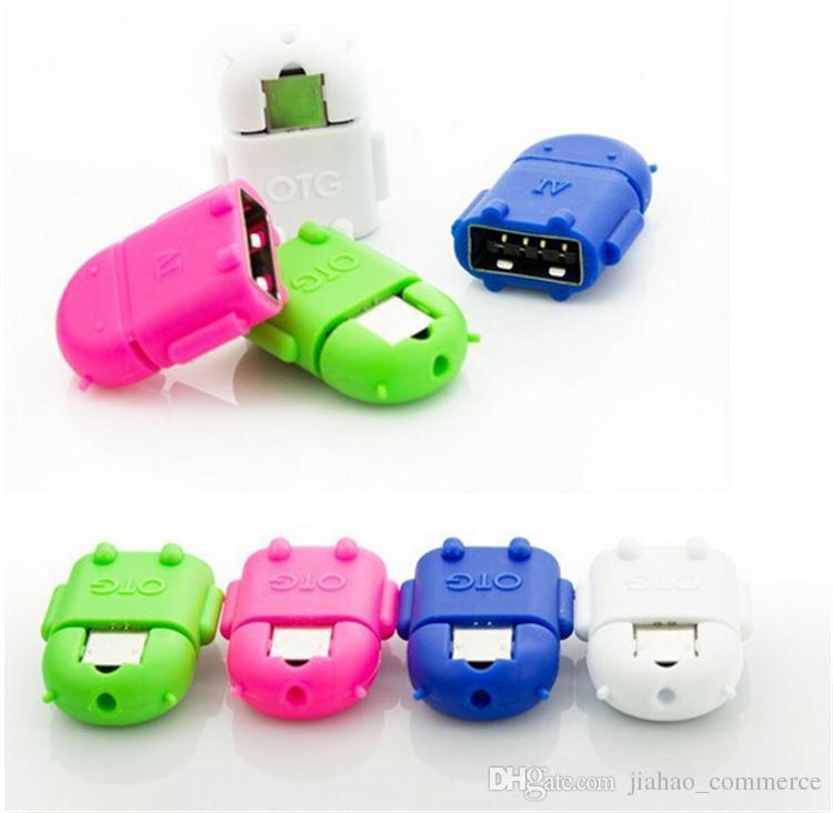 akıllı telefon için USB OTG Adaptör Android Robot Şekli OTG Adaptörü Mikro USB, cep telefonu bağlayın USB Flash / Mouse / Klavye Evrensel SY