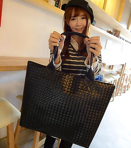 67613343f2 Hot Selling Women PU Leather Handbag Tote Shoulder Bags Large Capacity PU  Weave Bags Fashion Design Wholesale Leather Handbags Hand Bags From  Nicholatsang