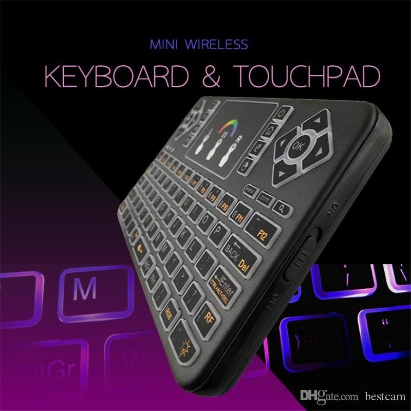 Minix Wireless Air Mouse 2.4G Wireless Keyboard Red Green Blue Remote Control keyboards Touchpad For S905X S912