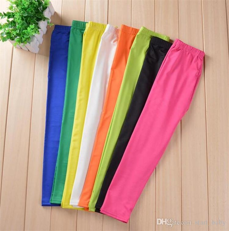 girls leggings girl pants new arrive Candy color Toddler classic Leggings children trousers baby kids leggings available B11
