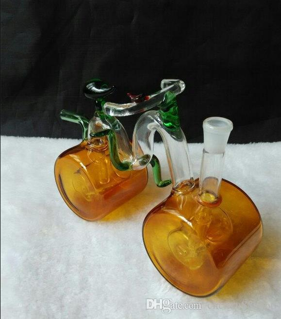 Cachimba de cristal clásica de la bici, entrega al azar del color, accesorios de cristal al por mayor de la cachimba, accesorios de los bongs de cristal, envío libre, grande mejor