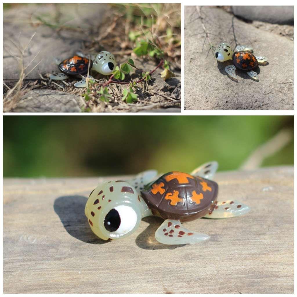 Cute Tiny Sea Turtles Figurines DIY Ornaments Bonsai Succulents ...