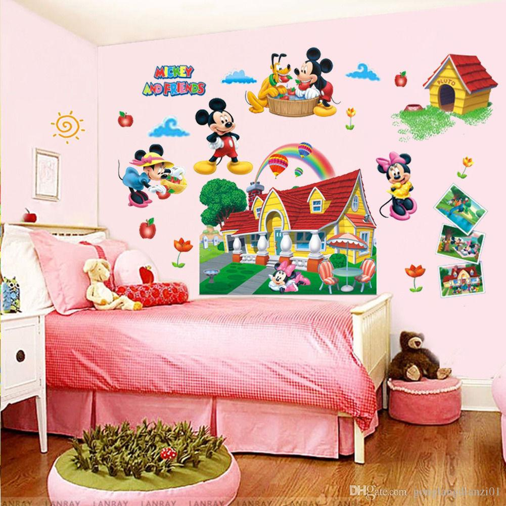 colorful mickey mouse clubhouse wall sticker 3d mural decal kids baby room decor fish wall decals fish wall stickers from gonglangdianzi01 588 dhgate - Room Decor 3d