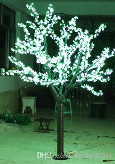 LED LED Artificial árbol de la flor de luz Luz de Navidad 1,Bulbos 2 m / 6.5 pies de altura 110 / 220VAC uso al aire libre impermeable envío