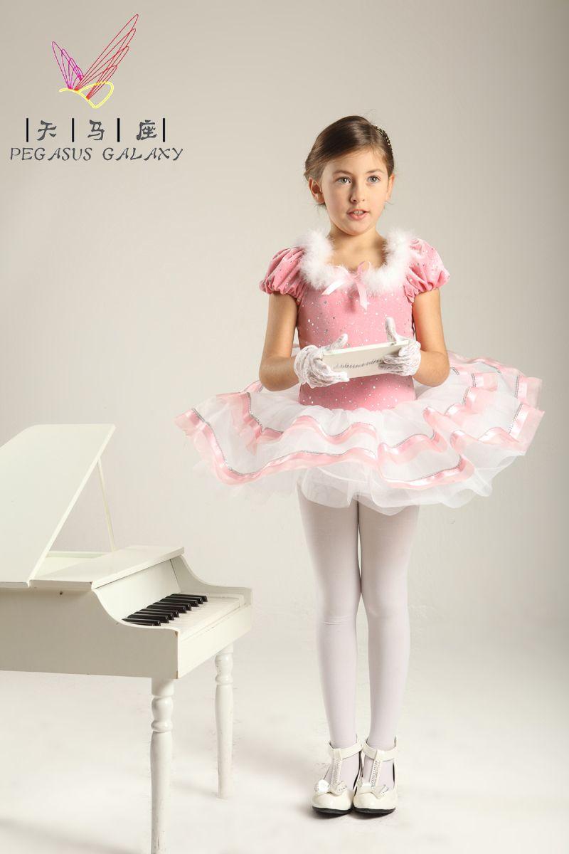 Ballet Costume Children Dress Pink Flower Girl Dress Princess Dress