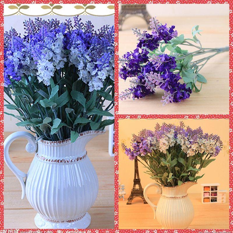 bulk artificial lavender white purple flowers vine for valentine's, Ideas