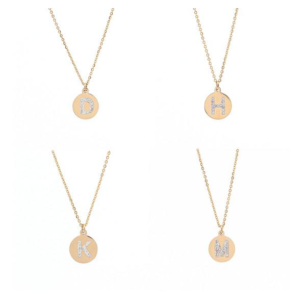 Wholesale 2018 necklaces jewelry round shaped letter necklace wholesale 2018 necklaces jewelry round shaped letter necklace initial charm tiny metal delicate minimalist personalized necklace gold necklace heart aloadofball Image collections