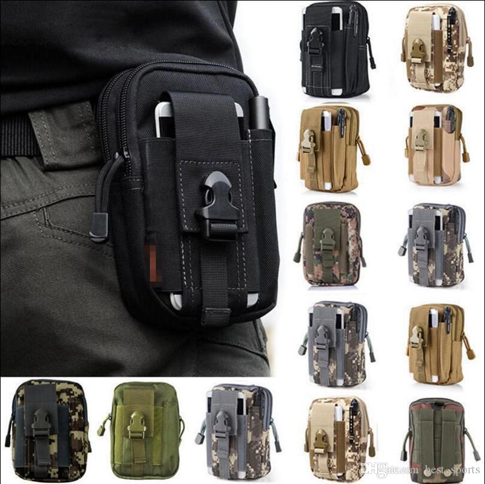 Outdoor Sports Tactical Bags Pockets Waist Bag Sport Running Mobile Phone Case Purse Pack Gadget Pocket 13 Styles 300[pcs OOA3758
