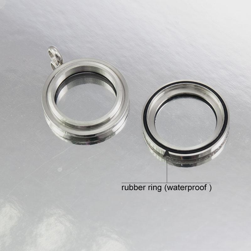 Newest high quality waterproof 25mm Stainless Steel Sparkle locket Twist floating Locket screw living locket pendant