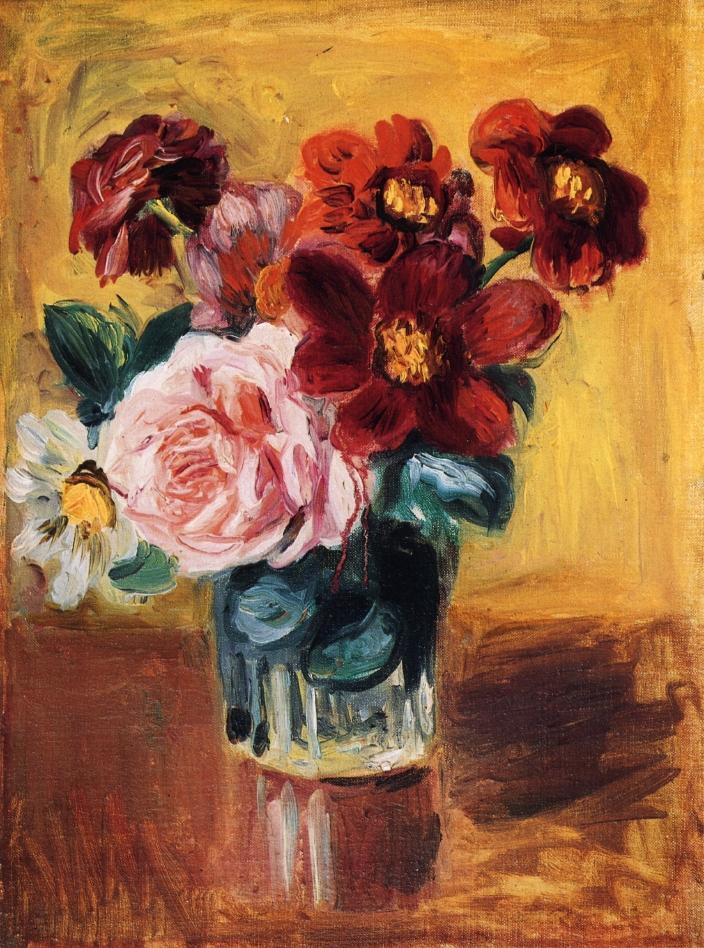 2018 Portrait Paintingflowers In A Vasepierre Auguste Renoir Art