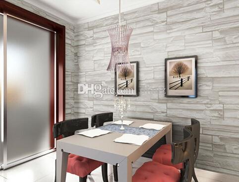 Grosshandel New Chinesischen Stil Esszimmer 3d Tapete Stein