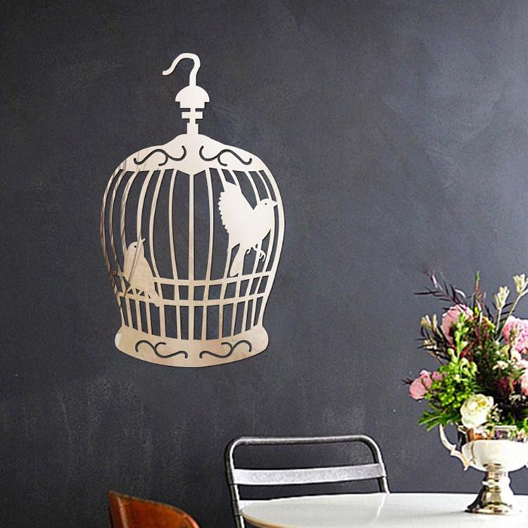 Acrylic Wall Mirror acrylic bird cage mirror wall sticker for home interior deco