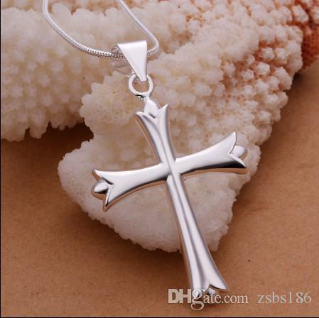 Global hot cross pendant necklace 925 sterling silver fashion jewelry Christmas gift Top quality
