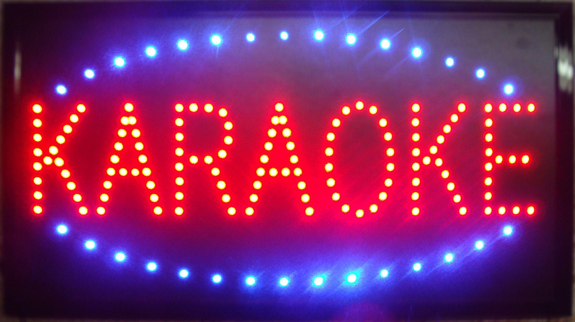Ultra Bright LED Neon Light Animated Led Karaoke Signs Neon Karaoke signs  neon Karaoke sign lights semi-outdoor size 48cm*25cm