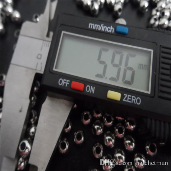 4/5/6/8 mm de alta solto brilhante contas de aço inoxidável jóias encontrar / fazer diy em massa