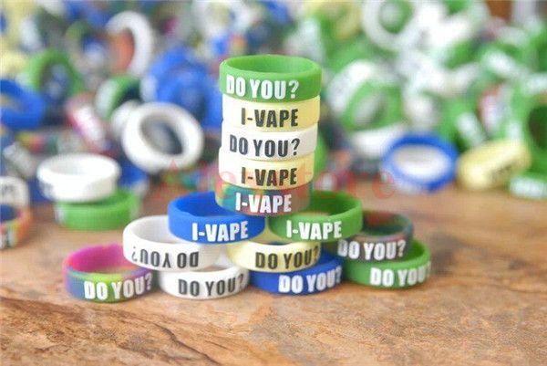 Banda de silicona caliente vape beauty Anillos de dedo coloridos antideslizantes de goma de silicona con tipografía para mods mecánicos atomizador rba rda ecigarette