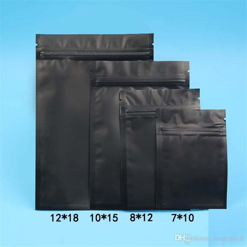 الأزرق / الوردي / الذهب / أخضر / أسود اللون ختم الذاتي أكياس مسطحة القاع الألومنيوم احباط أكياس بلاستيكية صغيرة LZ0712