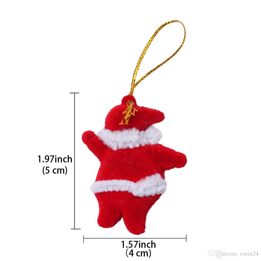 Christmas Tree Ornaments Decorations Hanging Pendant Doll Red Colorful For Santa Claus Tree Home Party Wedding
