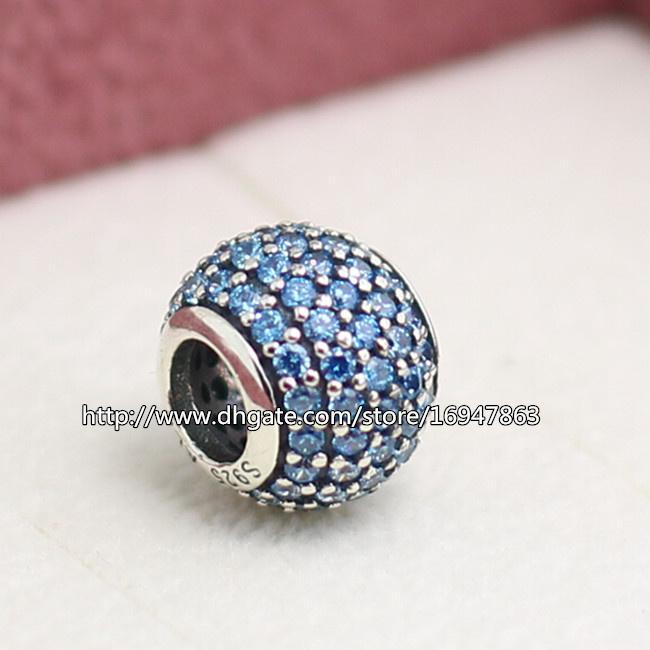 925 Sterling Silver CLIP Mickey Silhouette CZ Bead Fit European Charm Bracelet