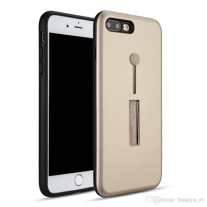 Kickstand Phone case anti Skid slide Ring holder Cell phone cases TPU PC back cover for Motorola G6 play
