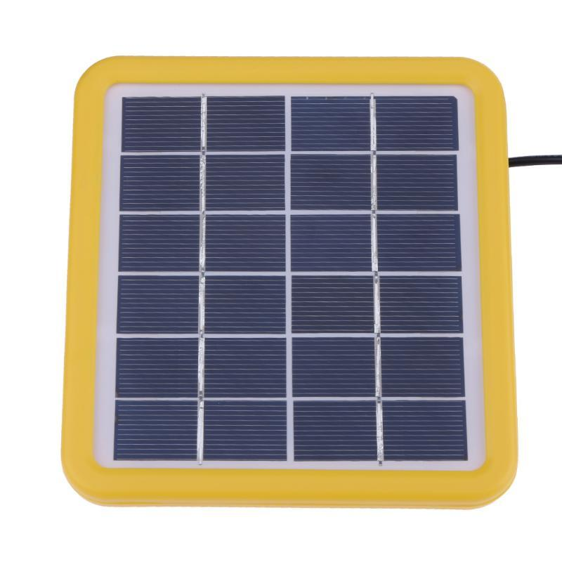 6V 2W Polycrystalline Silicon Wired Solar Cell Panel Sun Power Charger System with 3m Power Cable for Lighting