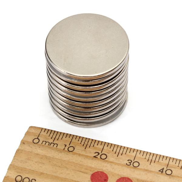 10 ADET 25mm x 2mm N35 Güçlü Yuvarlak Nadir Toprak Neodimyum Mıknatıs Mıknatıslar sipariş $ 18no parça