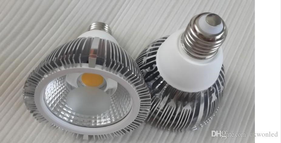 E27 E26 LED GU10 PAR30 Lumières Ultra Bright 18W COB Ampoules Led Dimmable 30/60 Angle chaud / blanc froid AC 110-240V + Garantie 3 ans