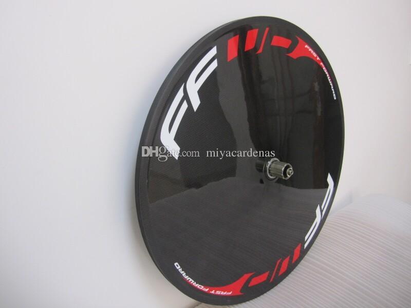 FFWD carbon fiber road/track bike FRONT 3 Spoke bicycle disc wheel tubular rear wheel glossy/matte finishing