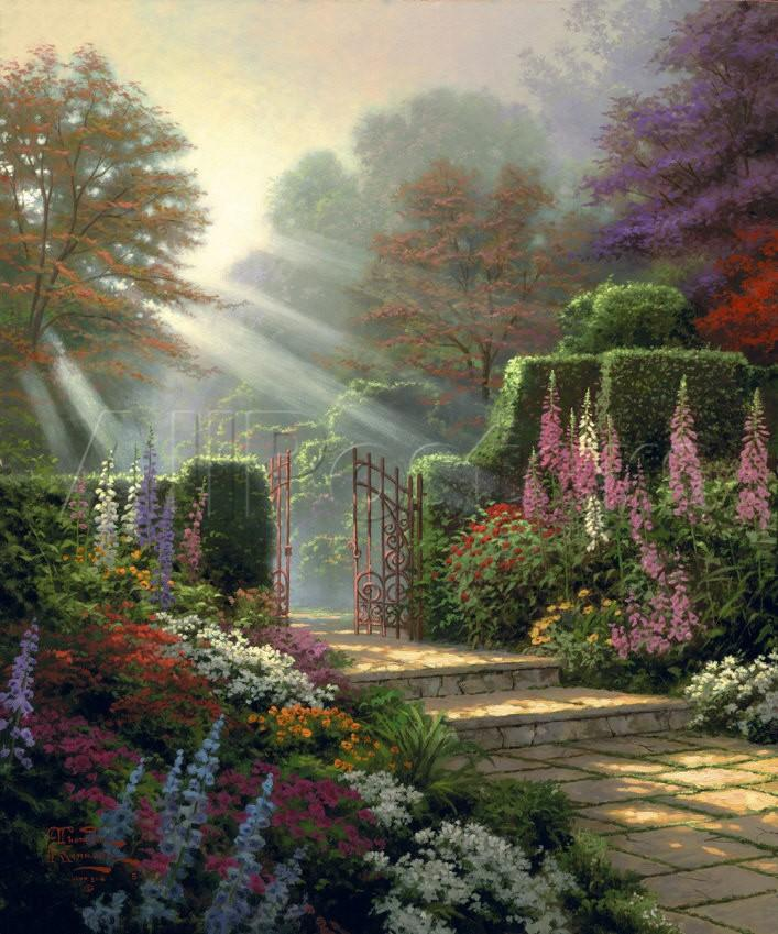 Thomas kinkade paintings for sale garden of grace modern - Home interiors thomas kinkade prints ...