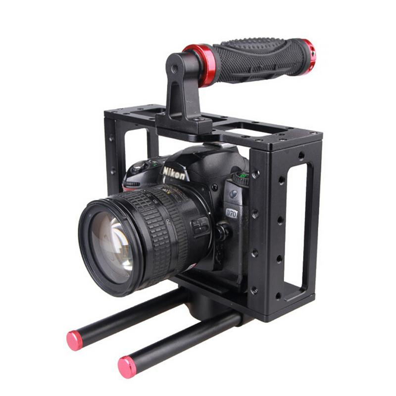 DSLR Camera Cage Top Handle 15MM Rod System For Video Camera Canon 5D MARKII III 7D 60D 550D Nikon Sony