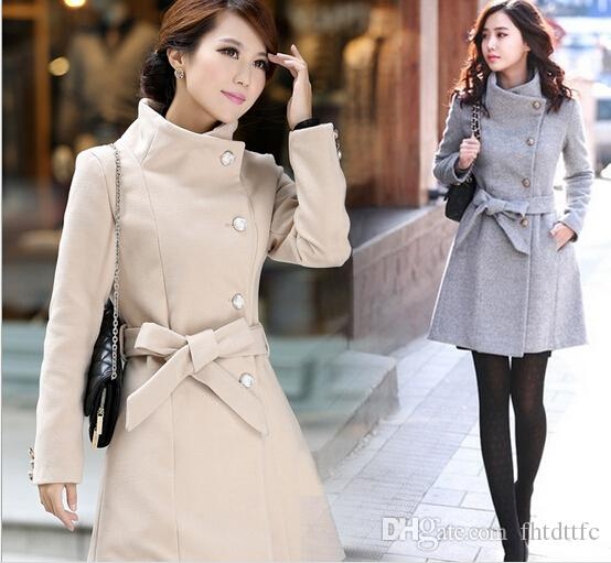 2018 2015 Hot Luxury British Style Women Winter Long Wool Coat ...