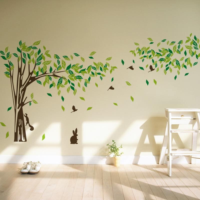 Free Shipping Big Size Trees Living Room TV Wall Stickers Tree Wall  Stickers Removable Two Sizes.8260