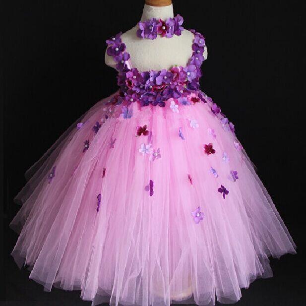 2018 Top Quality Girl Party Dress Baby Girl Slip Flower Dress Flower