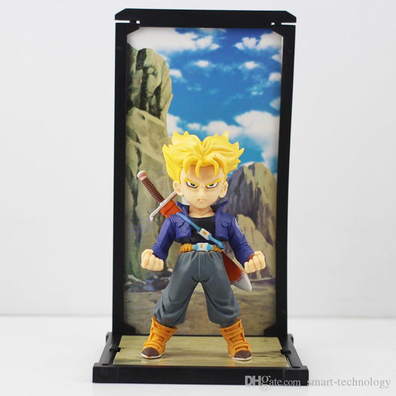 Dragon Ball Display Figure Toy Q Version Super Saiyan Trunks Piccolo Vegeta Son Gokou PVC Figure Toys Collective Toy