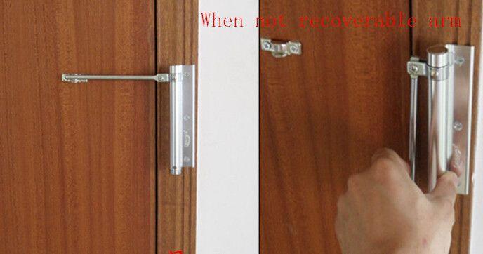 Casa leve automática porta mais próxima invisível porta primavera fecho da porta arco almofada Fácil